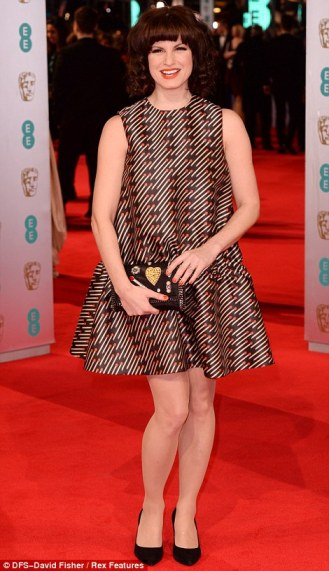 Jemima at the 2014 BAFTAS in a Stella MaCartney dress. Via the Daily Mail
