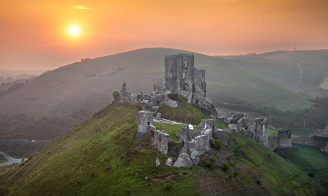 Corfe Castle, Dorset. Source Uknown