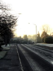 frosty road