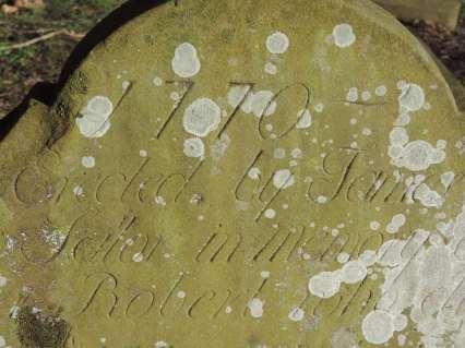 1770 gravestone in Mains Cemetery