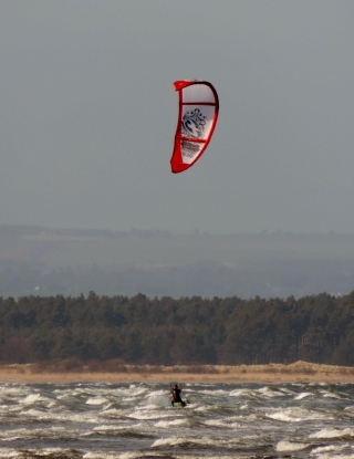 Windsurfer in St Andrews