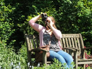 Fiona taking a picture