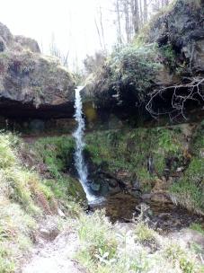 Waterfall (you can walk behind it) in Maspie Den, Falkland