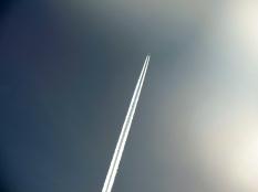 vapour trail sky