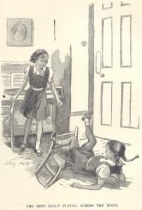 Darrell pushes Sally Stanley Lloyd