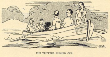 The trippers leave by Davie