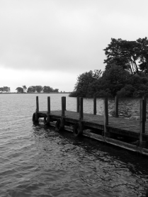 A Black and White Jetty at Monike Park