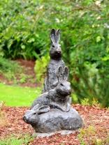 In the Beatrix Potter garden.