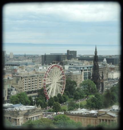Edinburgh from a castle window