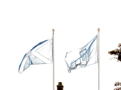 Saltire and Historic Scotland flag flying at St Andrew's Cathedral