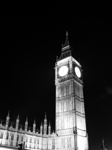 Black and White Big Ben