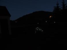 Outside after dark