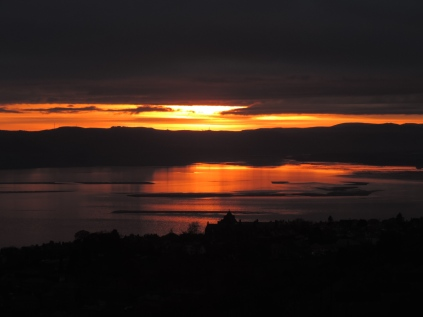 Sunset over the Tay