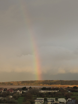 A Rainbow over the Bristol Estuary on my first morning.