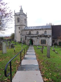 Pathway down to the church