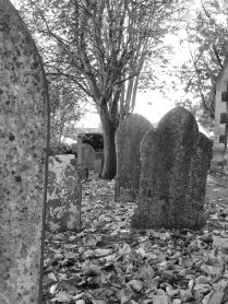 Black and White Grave stones