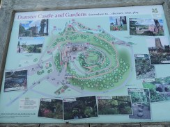 Map of Dunster Castle and grounds