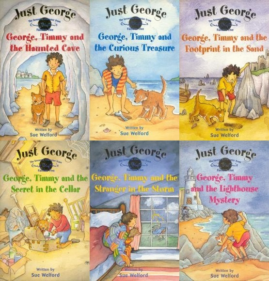 The six Just George Novels by Sue, featuring nine year old George and Timmy the puppy.