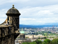 The new town from Edinburgh Castke