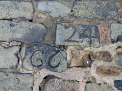 Numbered stones at the Pittenweem harbour