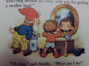 "Noddy and his ""big"" head"