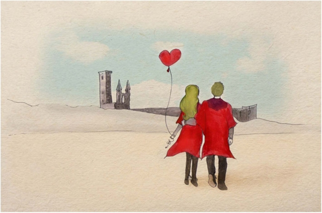 Couple at St Andrews by Gillian Gamble http://www.gilliangamble.co.uk/