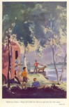 Frontispiece of Five Go Off in a Caravan, 1951 Hodder & Stoughton 1st Edition, by Eileen Soper. Camping like it used to be.