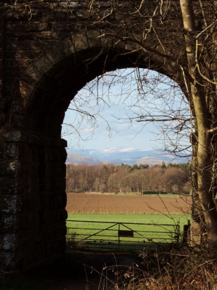 Looking towards the Perthshire hills