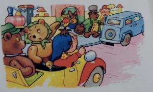 Noddy overloading his car