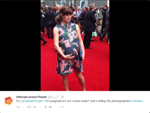 Jemima Rooper at the Olivier Awards