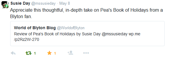 Susie Day tweets us