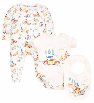 Sleepsuit, bodysuit and bib