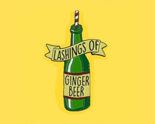lashings of ginger beer pin