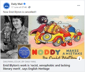 Daily mail blyton cancelled